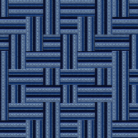 Highways and Byways in Blues fabric by anniedeb on Spoonflower - custom fabric
