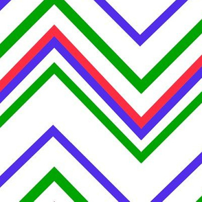 chevron white with red_blue_green