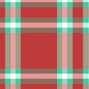 holiday plaid red_mint_white