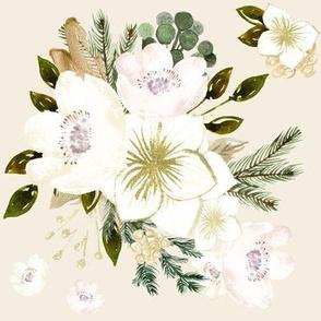 "8"" Pine Florals // White Linen"