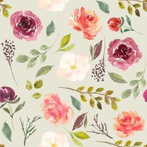Harvest Flowers // Satin Linen