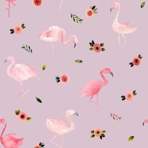 Flamingos and Florals // Maverick Lavender