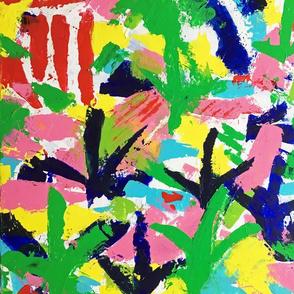 Bird Tracks, Abstract Art