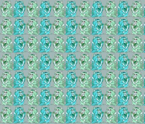 Babicat Teal Mint fabric by amy_kollar_anderson on Spoonflower - custom fabric