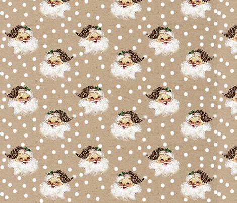 Krafty Boho Santa Large fabric by brookiesdesigns on Spoonflower - custom fabric
