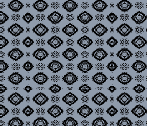 Reflection on the black stone fabric by fade-into_nature on Spoonflower - custom fabric