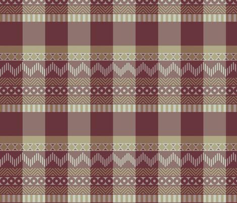 Ornamental zigzag stripe #2 - herringbone pattern - red, gold, grey, brown fabric by weavingmajor on Spoonflower - custom fabric