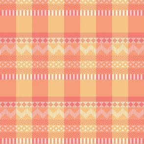 Ornamental zigzag stripe #2 -  stripe - herringbone pattern - dotpink