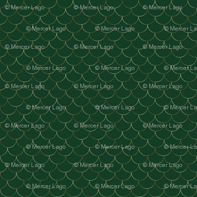 gold scales on evergreen hunter green
