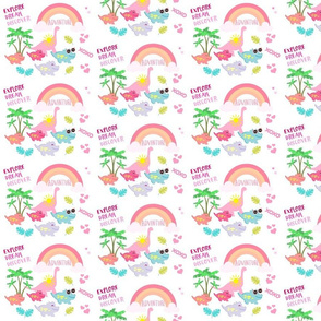 dino SMALL525 HD- tropical adventure-pink