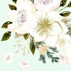 """10.5"""" Pine Florals // Tara Mint"""