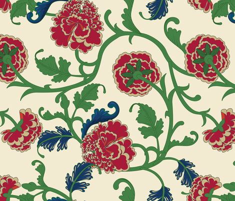 Peonies fabric by designsyrup on Spoonflower - custom fabric