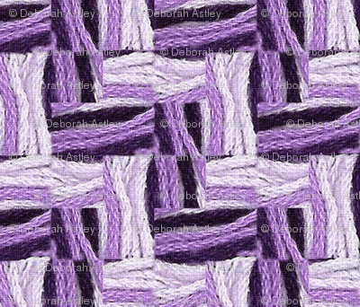 2 Embroidery Threads in Purples