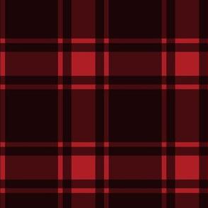 Minimalist Middleton Tartan in Red + Black