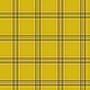 SMALL - 90s Tartan - cher, clueless, 90s movie, movies, cosplay, fan, plaid, checks, black and yellow tartan, tartan fabric