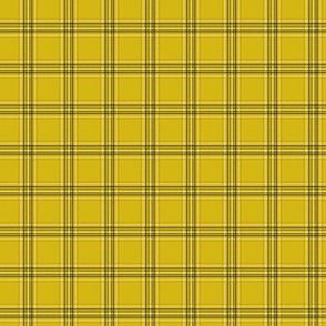 MINI - 90s Tartan - cher, clueless, 90s movie, movies, cosplay, fan, plaid, checks, black and yellow tartan, tartan fabric