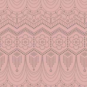 Flapper Dress Inspired blush pink
