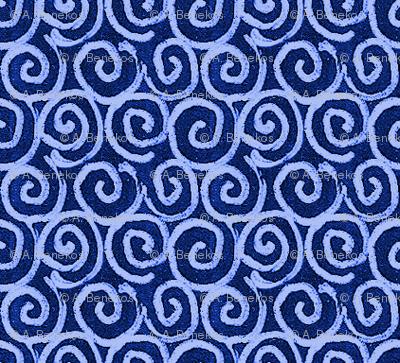 Chalkboard Curls - Blue