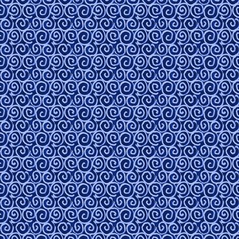 Chalkboard Curls - Blue fabric by siya on Spoonflower - custom fabric