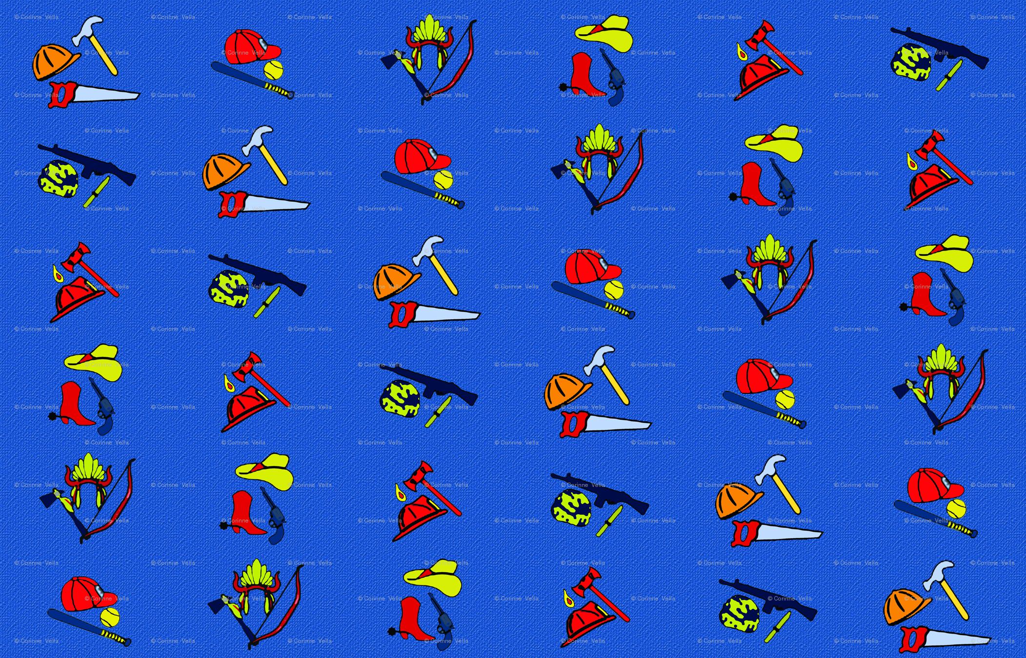 2bbb065b115 Chucky Denim Pattern wallpaper - orchida_crafts - Spoonflower