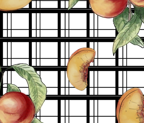 peachy on graphic fabric by moxieprints on Spoonflower - custom fabric