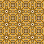 Chain squares in sienna