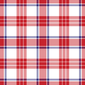 Red White and Blue Patriotic Plaid