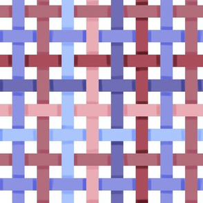 Woven Pink and Blue Ribbons