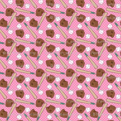 Pink Baseball Patter