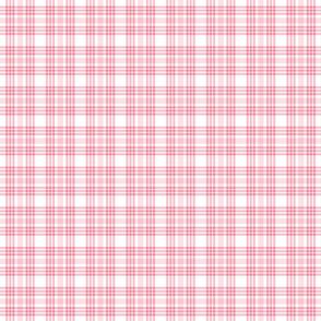 Pink and White Valentine's Plaid