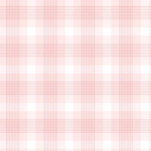 Blush Pink Plaid Pattern