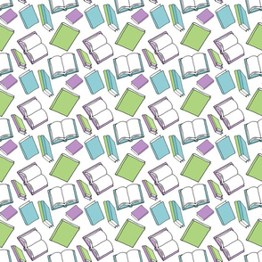 Library Pattern - Tossed Books