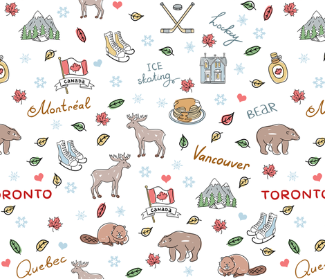 Canada fabric by bags29 on Spoonflower - custom fabric