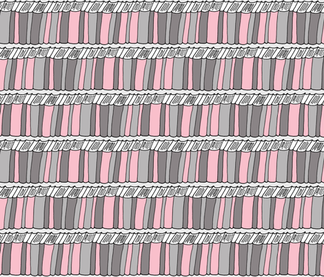Pink and Gray Book Shelf Pattern fabric by northern_whimsy on Spoonflower - custom fabric