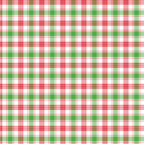 Red, Green, and Pink Christmas Plaid
