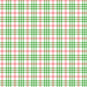 Pink, Green, and White Plaid