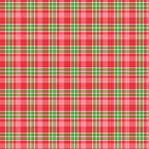 Red, Pink, and Green Christmas Plaid