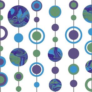 Azure, Violet & Emerald Marbled Spots