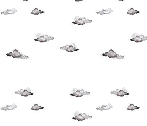Cloud repeat fabric by jennikainoriginals on Spoonflower - custom fabric