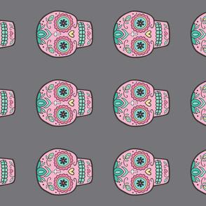 Pink Sugar Skull Pillow Plush Plushie Softie Cut & Sew