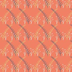 Homeland Flora Meadow in Tangerine