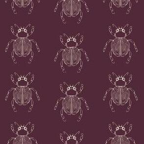 Jungle Bugs Luxe in Maroon
