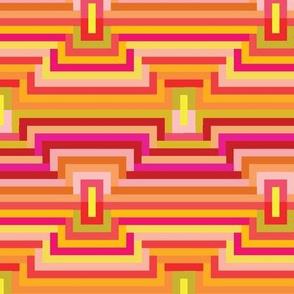 70's Mod Geometric Orange