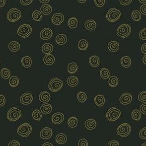 Retrol Swirls in Green