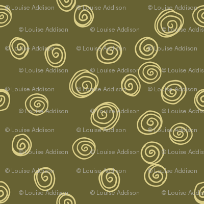 Retro Swirls in Khaki