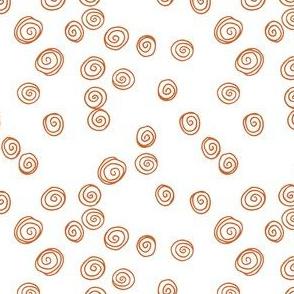 Retro Swirls Ochre
