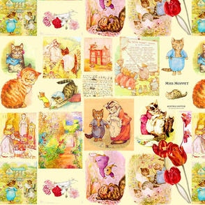 Beatrix Potter Cats and Kittens