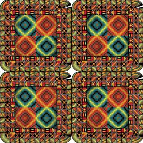 Cherokee Quilt Mosaic Pattern