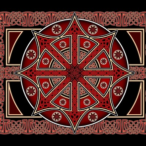 Chaos Star Banner in Knotwork 48x36""