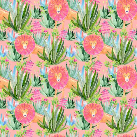 "4"" Modern Safari - Peach fabric by shopcabin on Spoonflower - custom fabric"